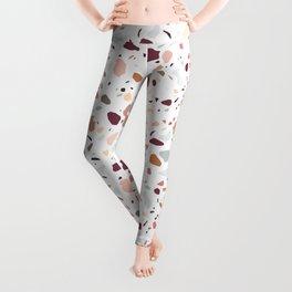 Terrazzo marble pattern Leggings