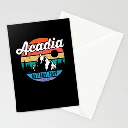 Acadia National Park Maine Mountains Retro Stationery Cards