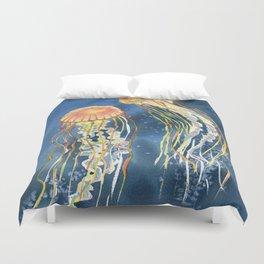 Dancing of Jellyfish Duvet Cover