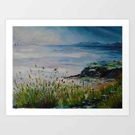 Red sails, Galway Bay Art Print