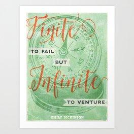 Infinite—to venture Art Print