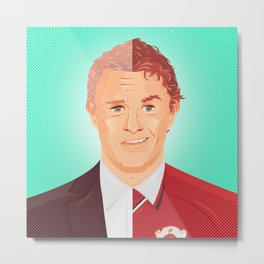 Two Faces of Ole Gunnar Solskjaer Metal Print