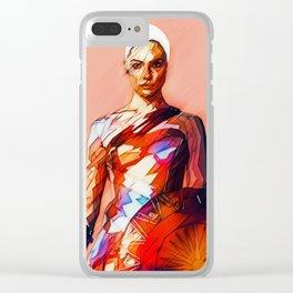 Wonder (JL) Woman / WonderWoman Illustration Clear iPhone Case