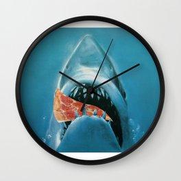 Pizza Jaws Wall Clock