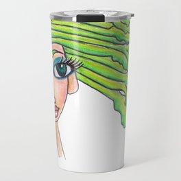 Celery Girl on white Travel Mug