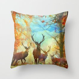 Autumn Forest Watch Throw Pillow