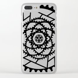 Bike Mandala Gears Clear iPhone Case