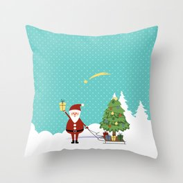 Santa Claus and gifts Throw Pillow