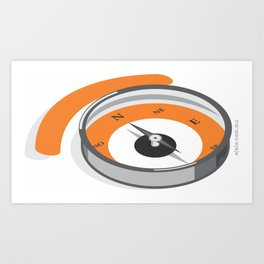 compass eye Art Print