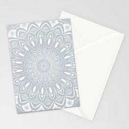Cool Gray Mandala Simplistic Bold Minimal Minimalistic Stationery Cards