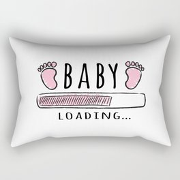 pregnancy announcement baby is loading Rectangular Pillow