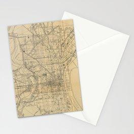 Vintage Philadelphia Railroad Map (1911) Stationery Cards