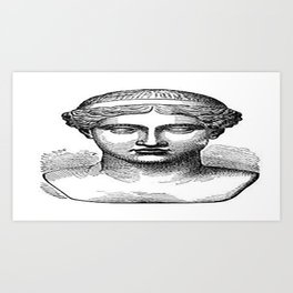 GOD face Art Print