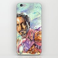 tony stark iPhone & iPod Skins featuring Tony Stark by Trenita