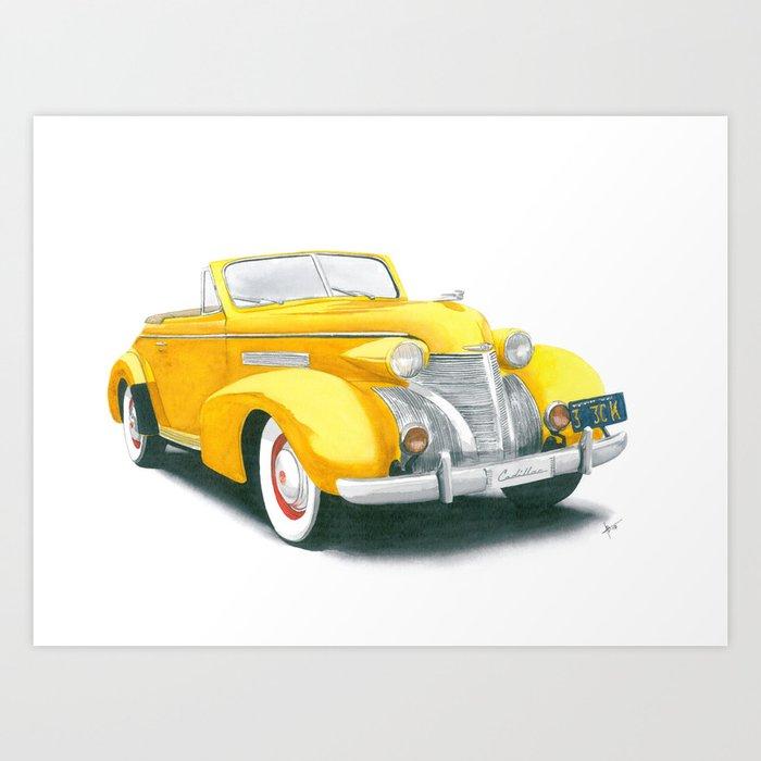 39 Cadillac Art Print