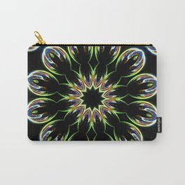 Mandala Beautiful Flower Black Background Carry-All Pouch