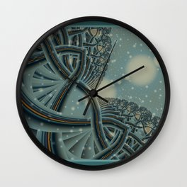 Celtic Winter Forest Wall Clock