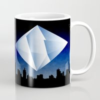 evangelion Mugs featuring Ramiel Thunder of God Vector Angel Art from Evangelion Anime Series. by Barrett Biggers