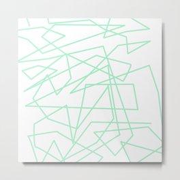 Minty Scwiggle Metal Print