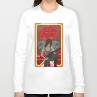 mucha Long Sleeve T-shirts featuring Modern Mucha - Sarah Conner by Frank DeAngelo