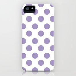 Lavender Medium Polka Dots iPhone Case
