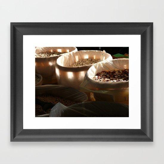 Light through the Beans Framed Art Print
