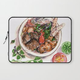 """Bun rieu"" - Noodle with freshwater crab Laptop Sleeve"