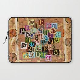 Armenian Textural Alphabet Laptop Sleeve