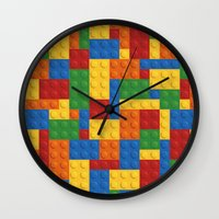 wwe Wall Clocks featuring Lego bricks by eARTh