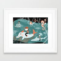 underwater Framed Art Prints featuring underwater by Orit Bergman