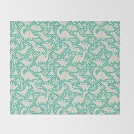 Delightful Dinos (teal) Throw Blanket
