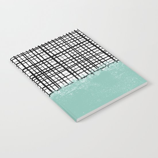 Mila - Grid and mint -  paint, art, artist cell phone case, grid phone case Notebook