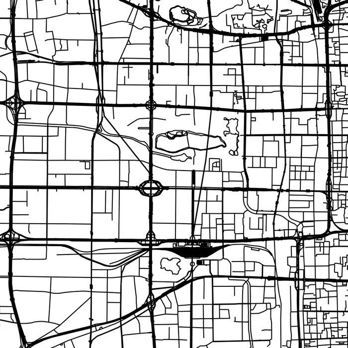 Beijing White Map Leggings