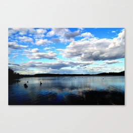 Blue watery reflections  Canvas Print