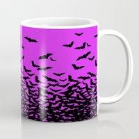 bats Mugs featuring Bats by beach please