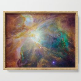Heart of Orion Nebula Space Galaxy Serving Tray