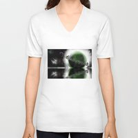 planets V-neck T-shirts featuring Planets by DebbieHughes