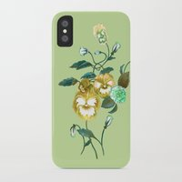 decal iPhone & iPod Cases featuring Pansy Decal Green & Gold by ThistleandFox