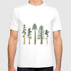Be Beneath the Trees  Mens Fitted Tee White MEDIUM