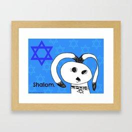 Shalom Hanukkah Dog - Art by Child Framed Art Print