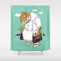 shopping Shower Curtains featuring Kitchen Shopping by Flying Mouse 365