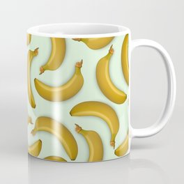 Fruit pattern. Background from bananas with realistic shadows Coffee Mug