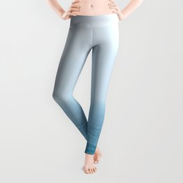 minimal ocean and horizon Leggings