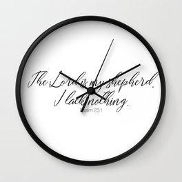 The Lord is my Shepherd #psalm #minimalist Wall Clock
