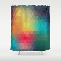 clueless Shower Curtains featuring Abstract Geometric Pattern by Rothko