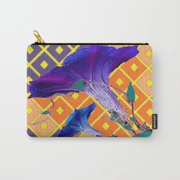 Gold & Purple Garden Floral Art Carry-All Pouch
