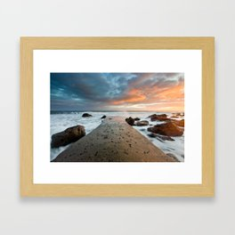 chemical dawn Framed Art Print