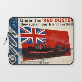 WW2 Vintage propaganda  poster Laptop Sleeve