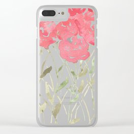 A Bunch Of Red Roses Clear iPhone Case