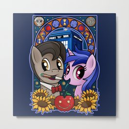 Ponies are Cool Metal Print